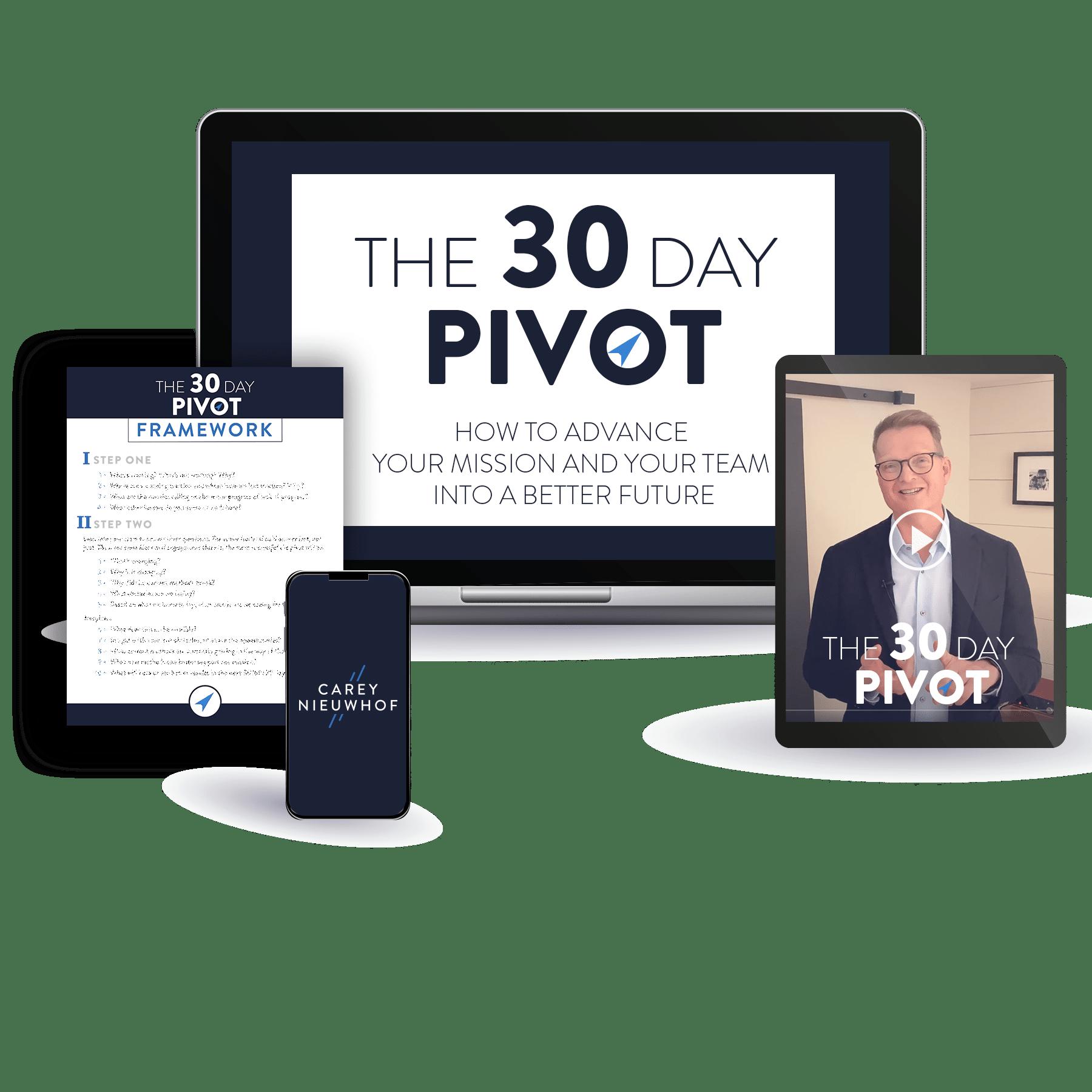 30 Day Pivot Bundle. Videos and PDF Framework.